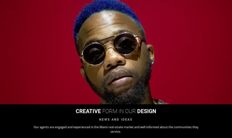 Creative design in studio Website Builder Software