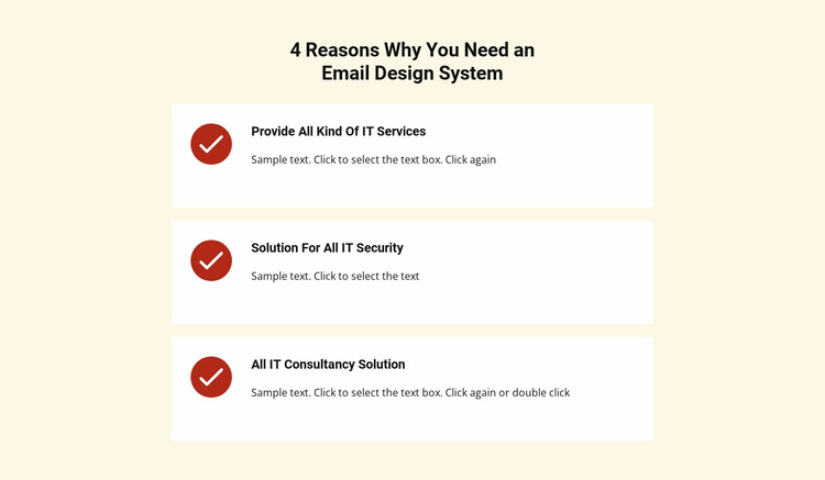 List repeater with services Website Template