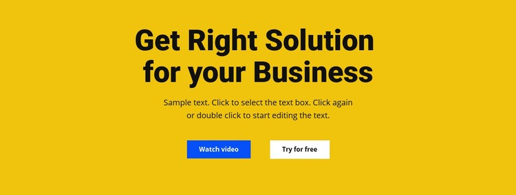 Heading, text and button Wysiwyg Editor Html