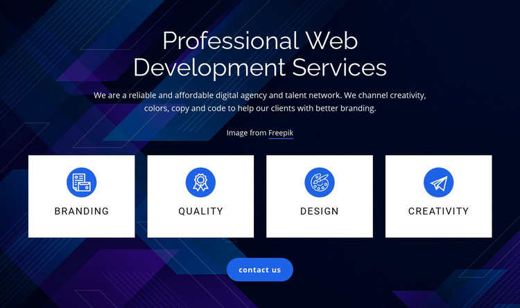 Web development services Homepage Design