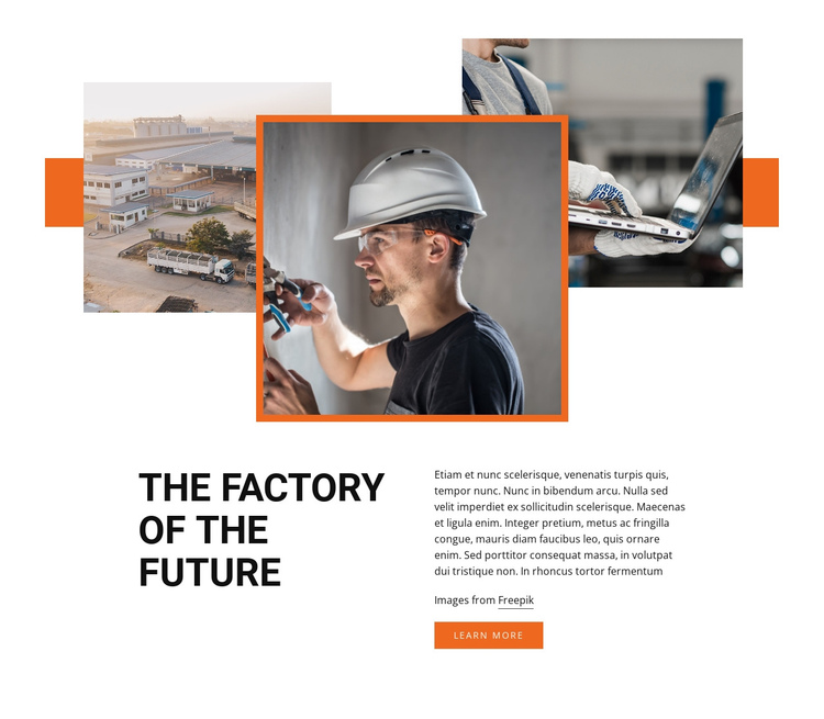 Industiral factory One Page Template