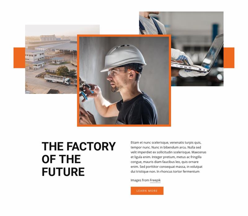 Industiral factory Website Maker