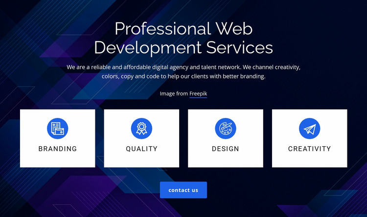 Web development services Website Mockup