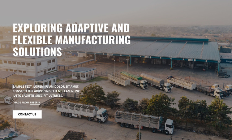 Manufacturing Solutions Website Mockup