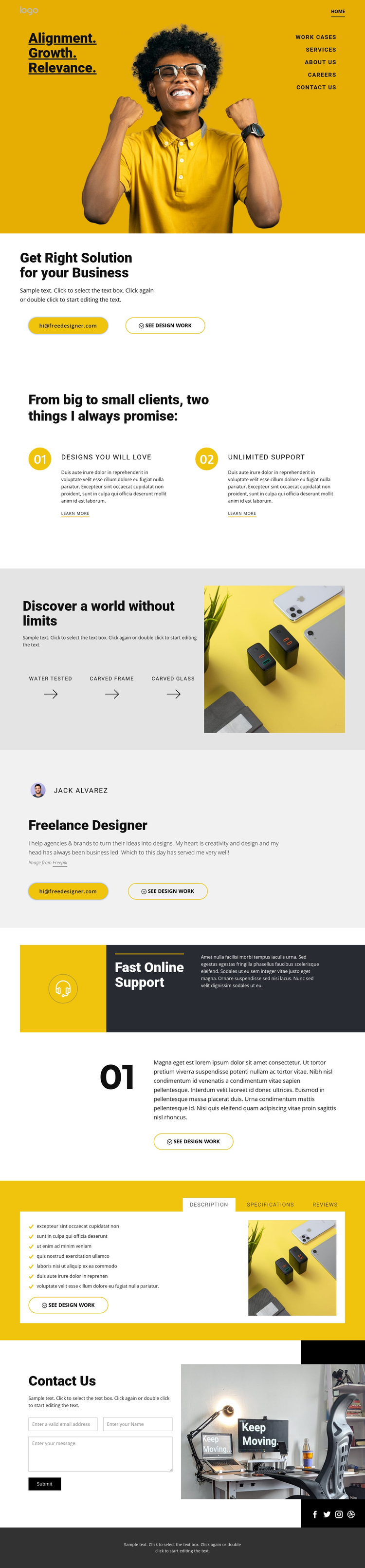 Quality is our goal One Page Template