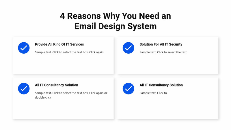 Services on white background Web Page Design