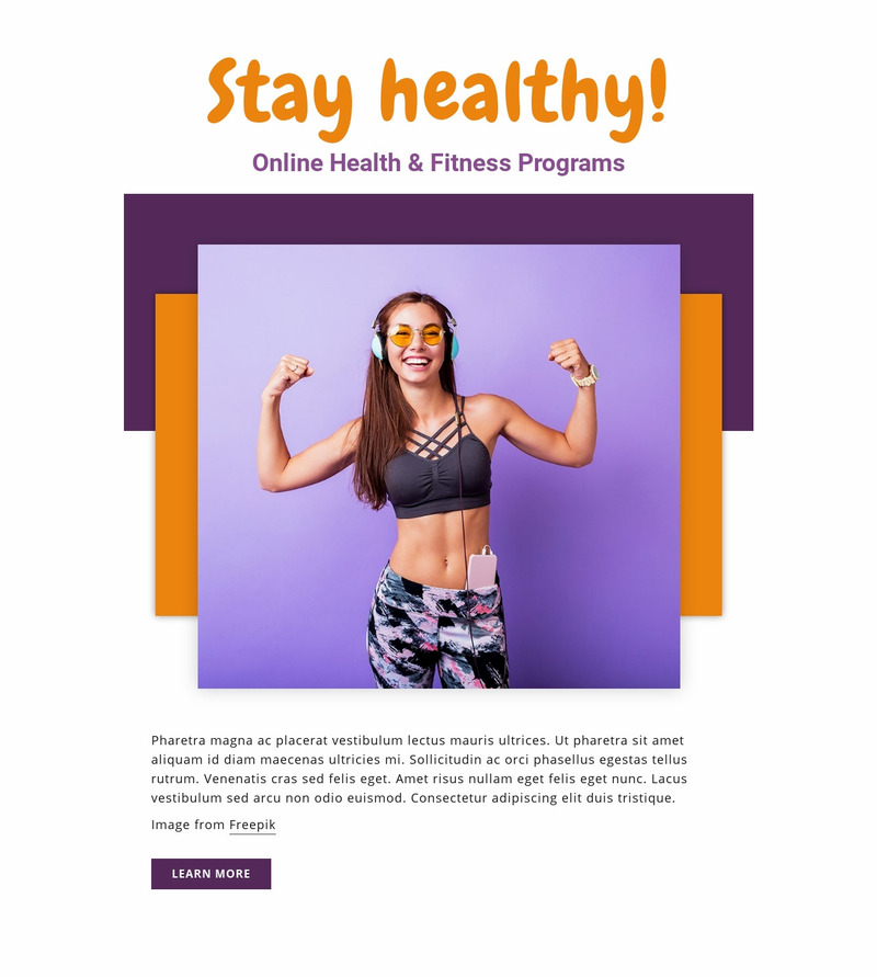 Online Fitness Programs Web Page Design