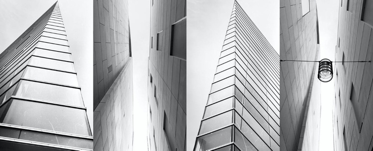 Gallery with architecture Website Design