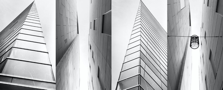 Gallery with architecture Website Mockup