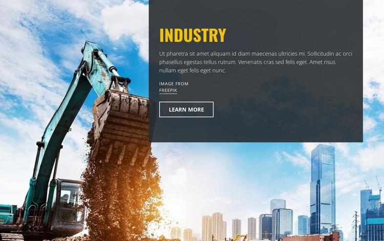 Heavy Industrial Machines Website Template