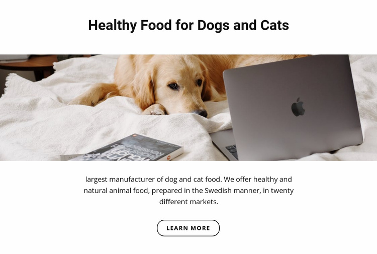 Healthy food for pets Website Template