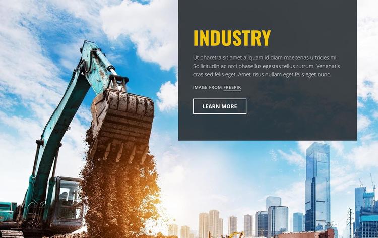 Heavy Industrial Machines WordPress Website