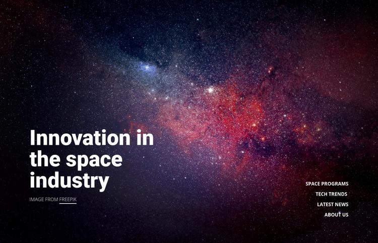 Innovation technology Homepage Design