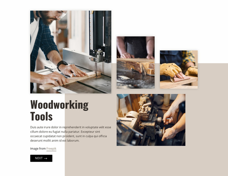 Woodworking industry Web Page Design