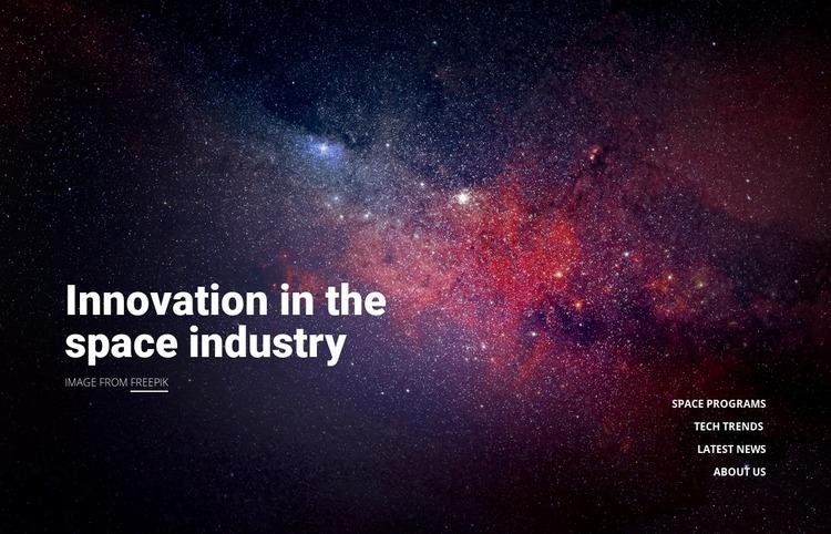 Innovation technology Website Mockup