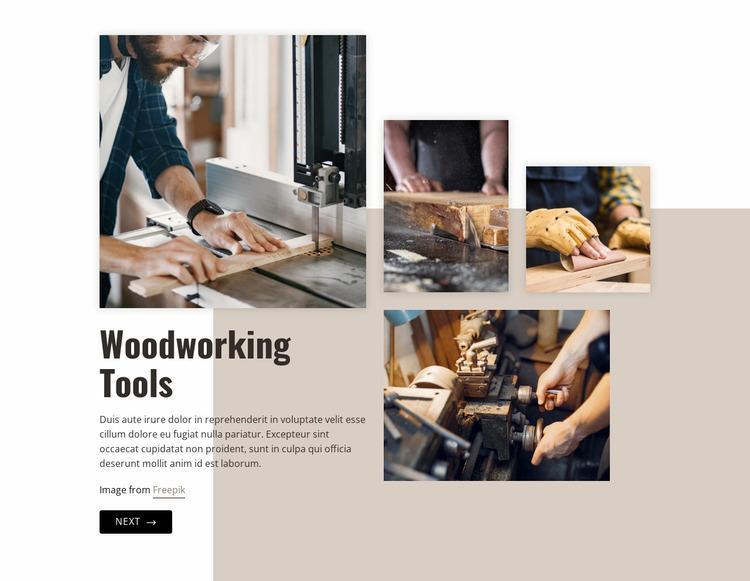 Woodworking industry Website Mockup