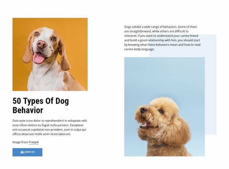 Quality Dog Behavior Courses Website Template
