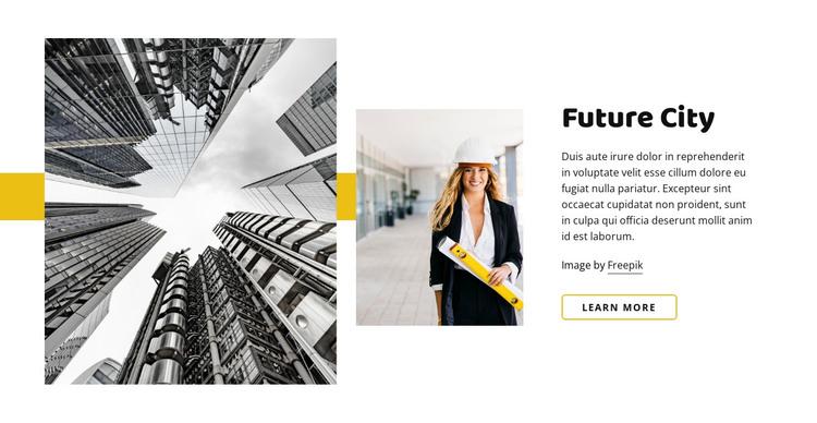 Future of architecture HTML Template