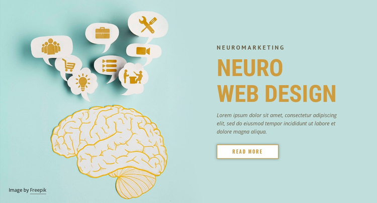 Neuromarketing web design One Page Template