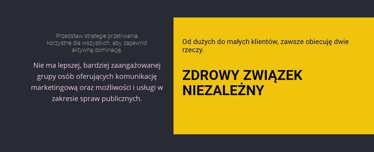 Nagłówki na ciemnym tle Szablon witryny sieci Web