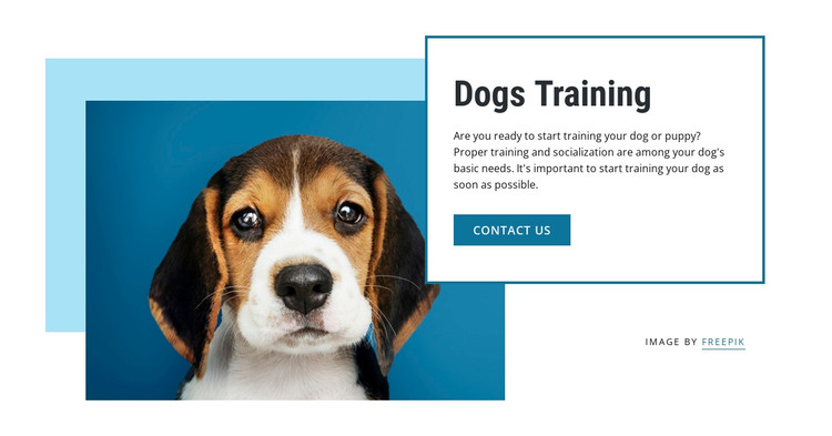 Dog training classes HTML Template