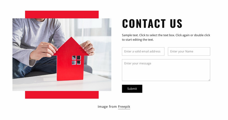 Contact our architects Html Website Builder