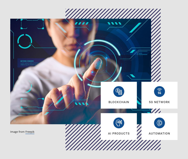 Future technology trends HTML5 Template