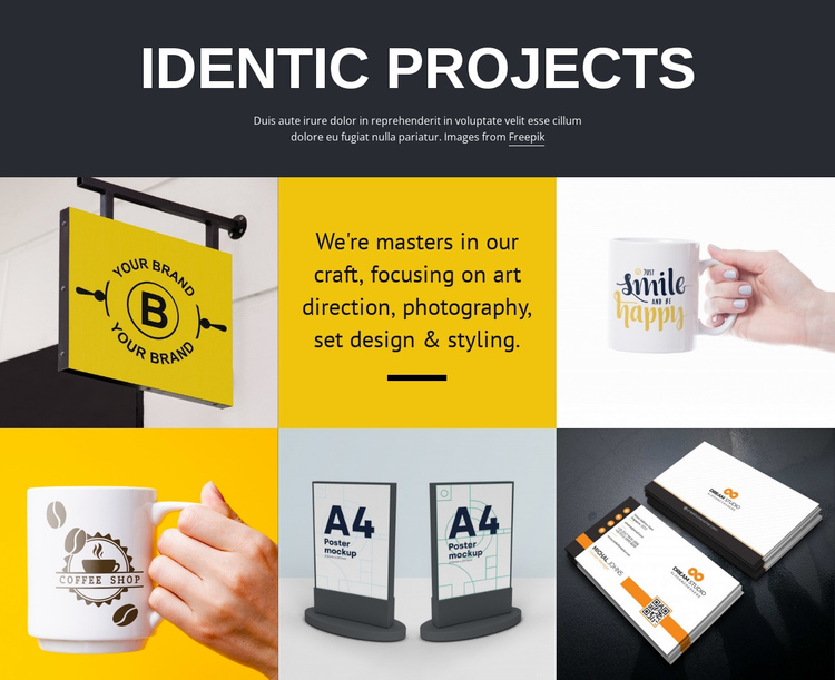 Design project art One Page Template