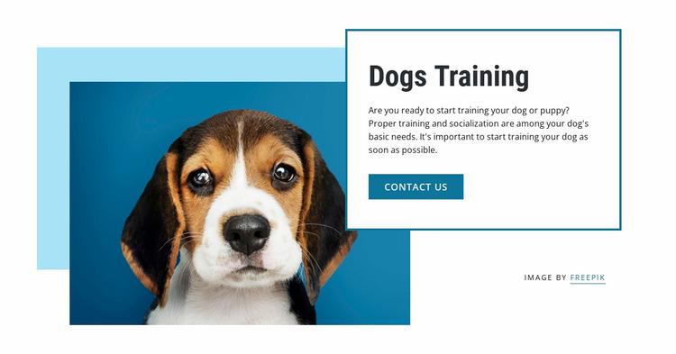 Dog training classes Website Mockup