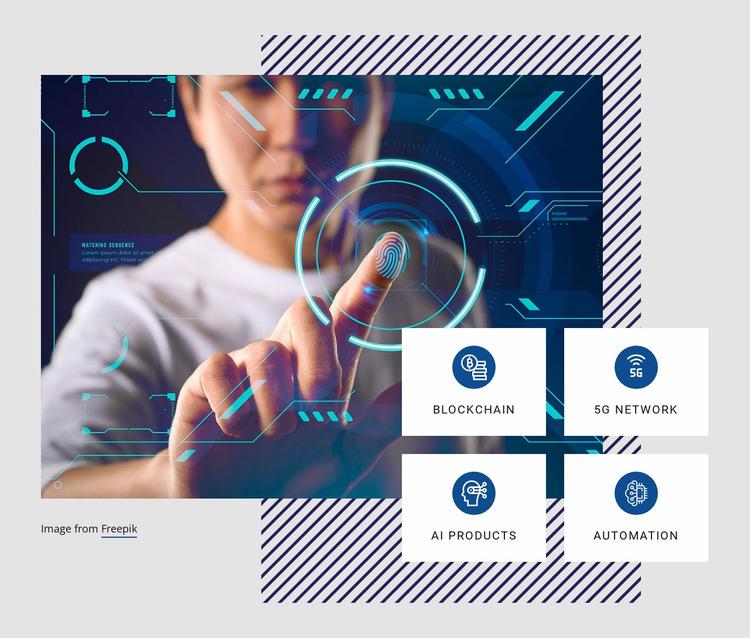 Future technology trends Website Mockup
