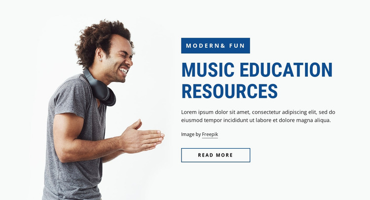 Music education resources Website Mockup