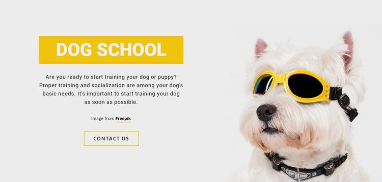 Positive Dog Training Website Template