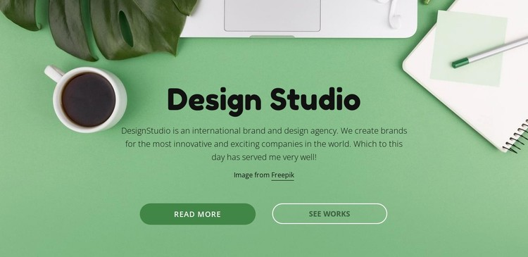 Your brand deserves better creative CSS Template