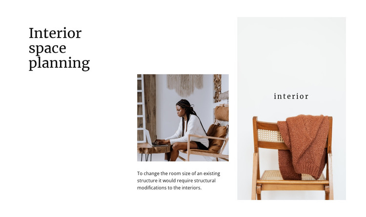 Interior space planning HTML Template