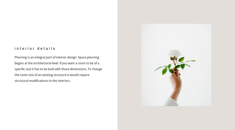 Details for interior HTML5 Template