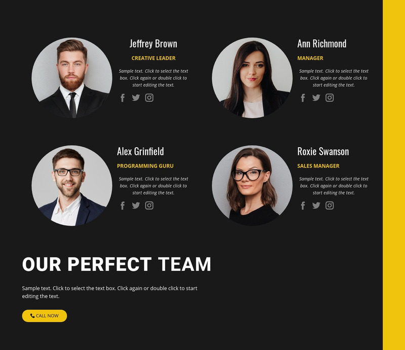Our busuiness team Web Page Design