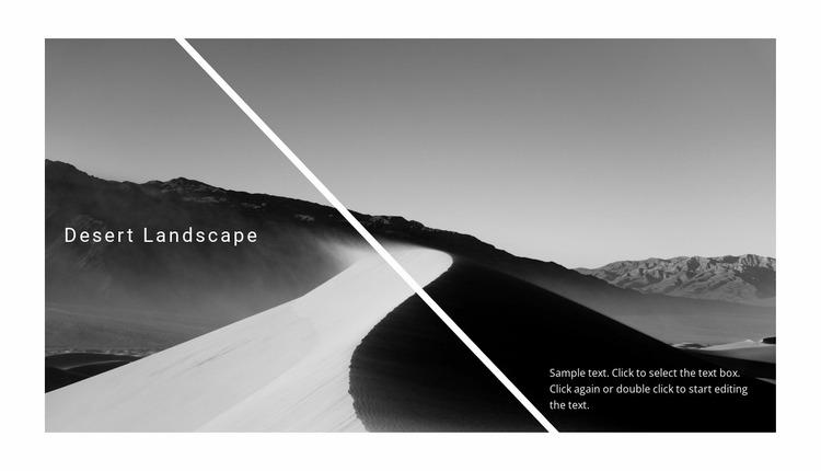 Beautiful desert nature Website Mockup
