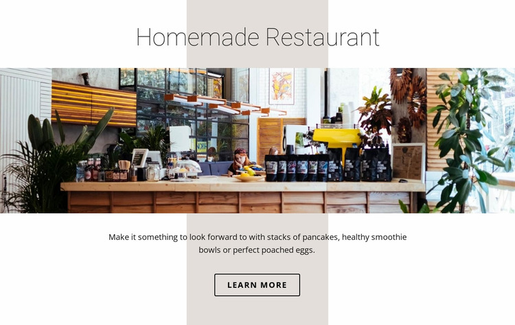 Home food restaurant  Website Mockup