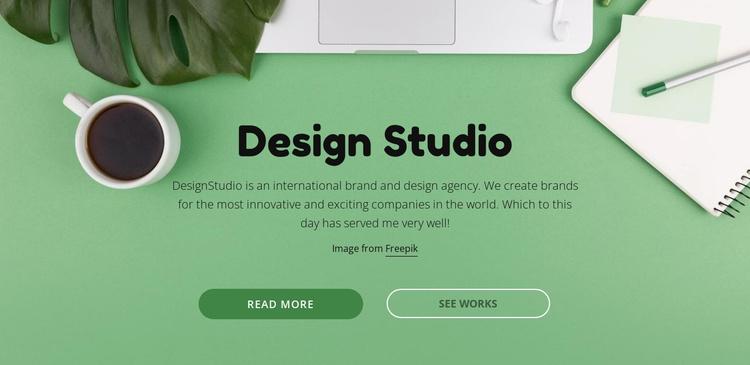Your brand deserves better creative Website Template