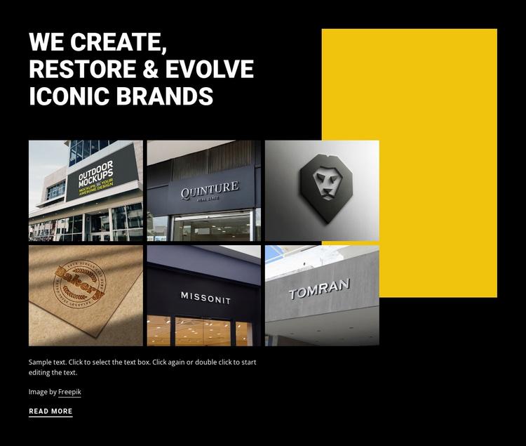 Evolving iconic art Website Template