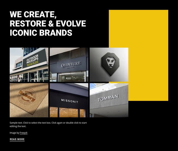 Evolving iconic art WordPress Website
