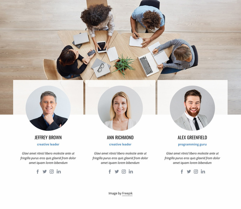 Business leading team Web Page Design