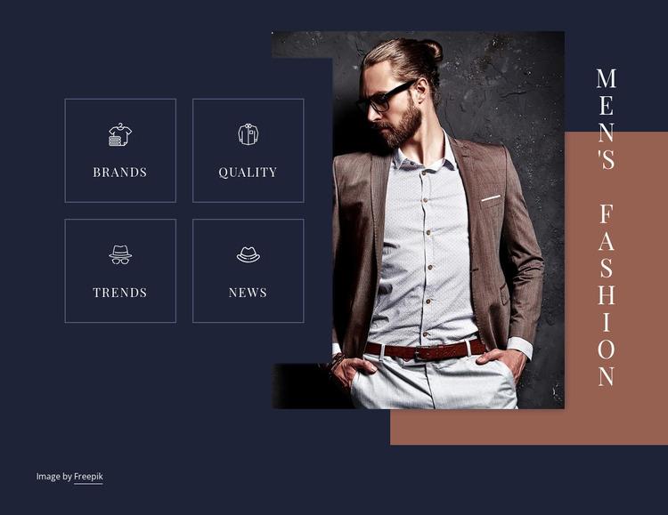 Men fashion trends Website Mockup