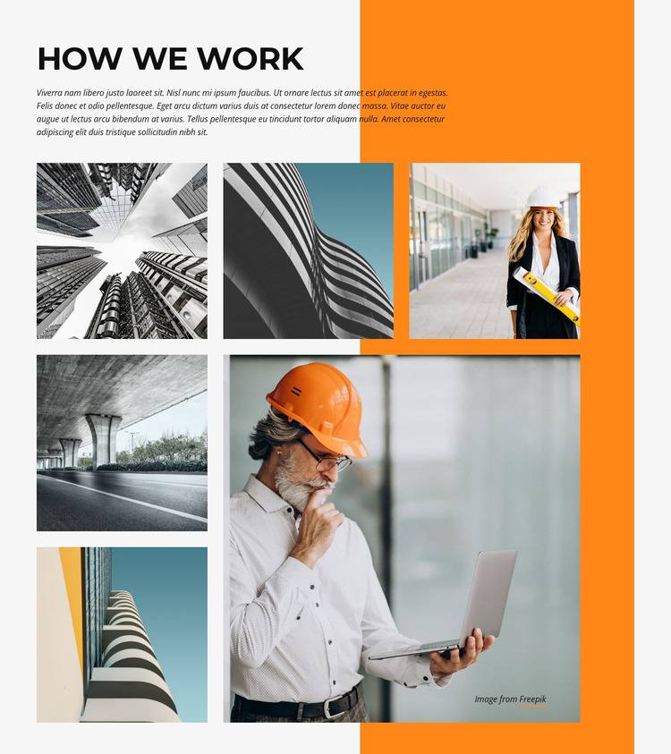 Building and architecture Website Mockup