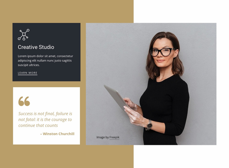 Marketing options for business owners Website Template