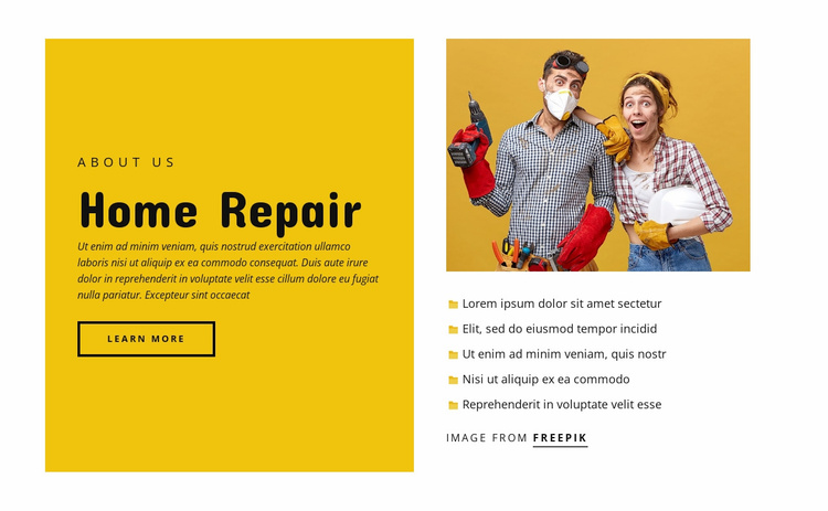 Home repair services Website Template