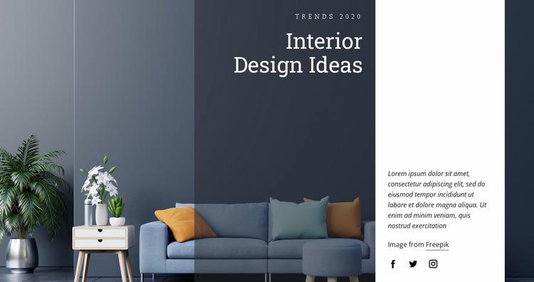 Interior design ideas WordPress Website Builder