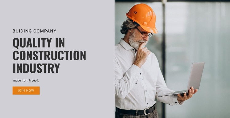 Construction industry works Html Code Example