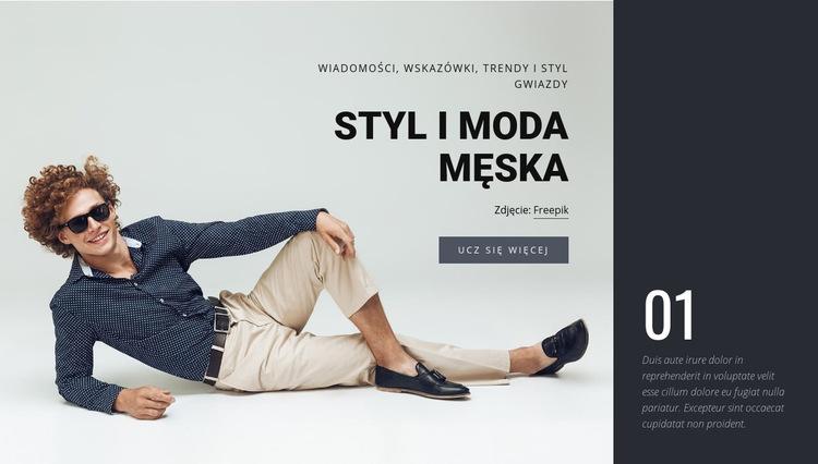 Styl i moda męska Szablon witryny sieci Web
