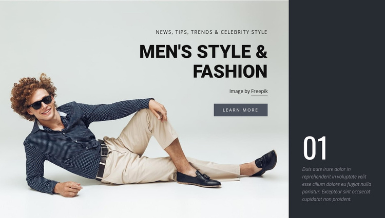Men style and fashion Website Template